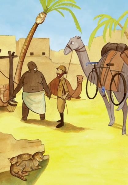 Ilustracja z książki Afryka Kazika, wyd. Bis