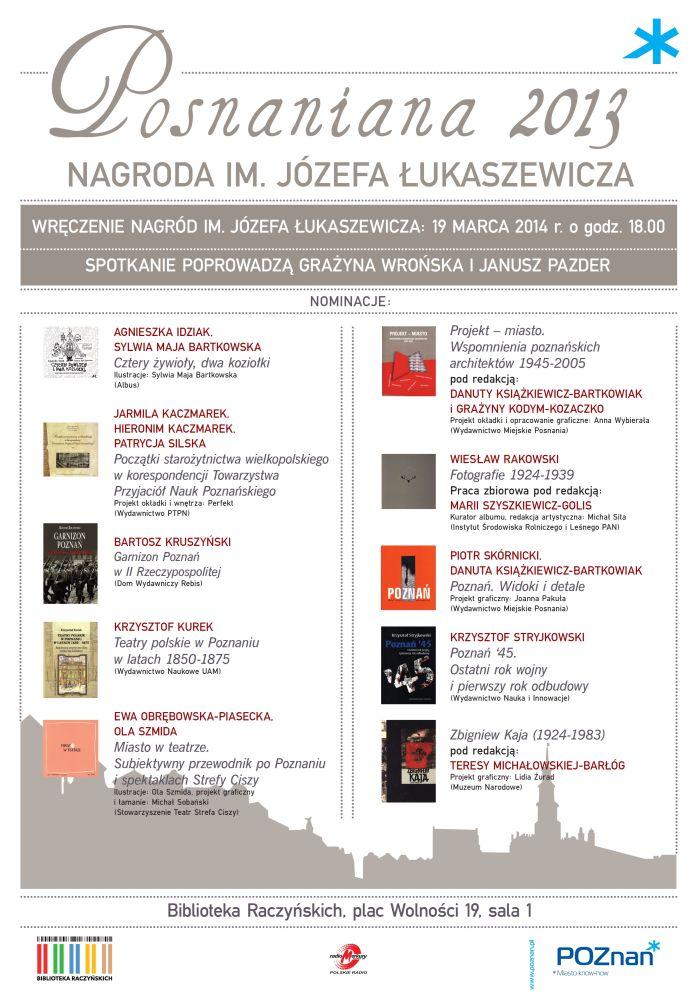 Nagroda im. Lukaszewicza 2013